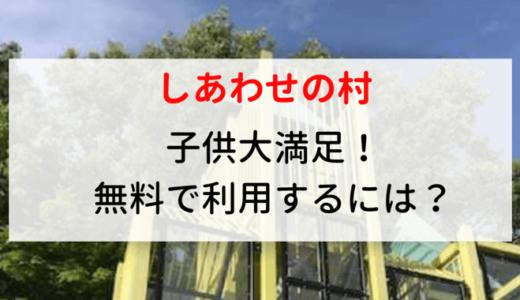 神戸北区:しあわせの村駐車料金無料?子供無料遊び場!