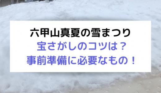 2019年六甲山真夏の雪まつり。持ち物や宝さがしゲームのコツは?事前に準備してお宝ゲットしよう